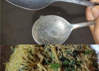 Resipi bihun goreng udang kering tular.
