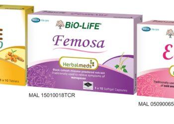 Herbalmeds Femosa, Curcure Phyto dan Echinax.